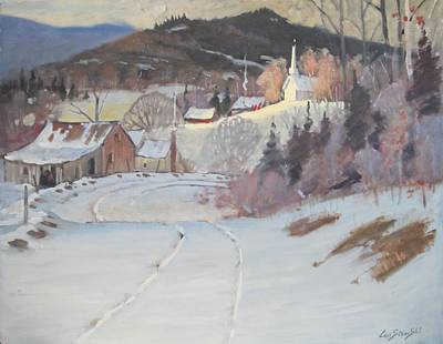 Painting - Church On The Hill by Len Stomski