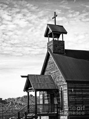 Church On The Mount In Black And White Art Print