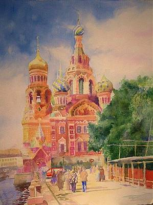 Painting - Church On The Spilt Blood by Alla Parsons