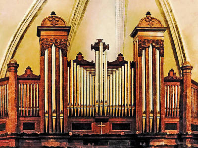 Photograph - Church Organ by Susan Savad