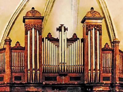 Photograph - Church Organ by Susan Savad