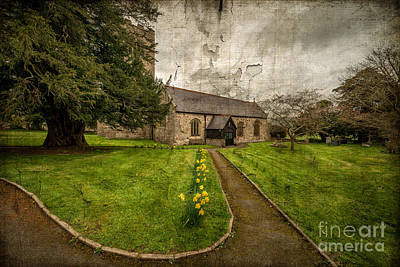 Grave Photograph - Church Path by Adrian Evans
