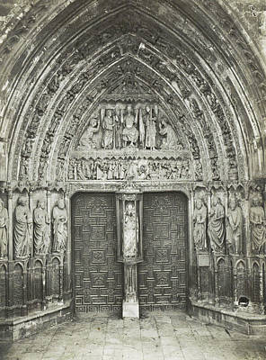 Portal Drawing - Church Portal With Sculptures, Anonymous by Artokoloro