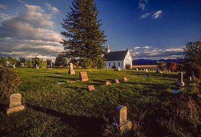 Church Potlatch Idaho 1 Art Print by Mike Penney