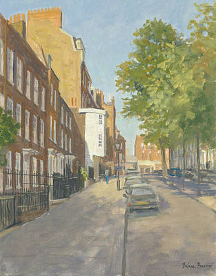 Church Row, Hampstead Oil On Canvas Art Print by Julian Barrow