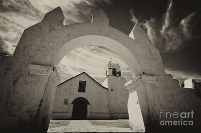 Photograph - Church San Pedro De Atacama Chile by Bob Christopher