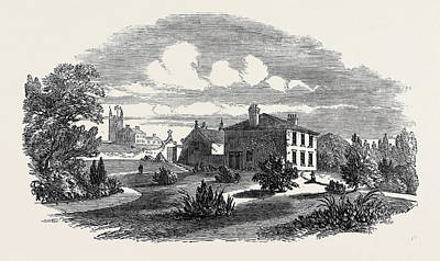 Church, Schools, And Vicarage Of St Art Print by English School