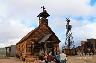 Photograph - Church Services At Goldfield by Pamela Walrath