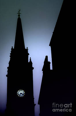 Church Spire At Dusk Art Print