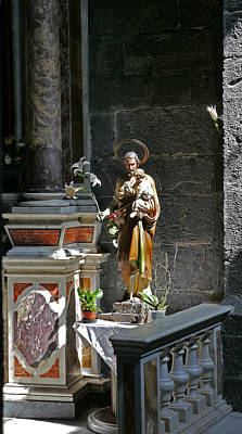 Photograph - Church Statue 1 by Herb Paynter