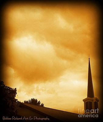 Church Steeple Art Print by Bobbee Rickard