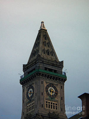 Photograph - Church Steeple In Boston by Gena Weiser