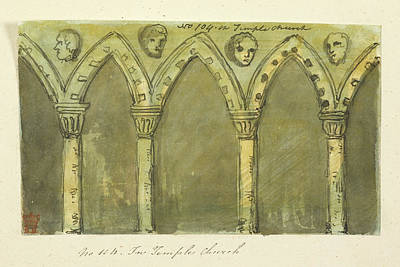 Church Stonework And Architecture Art Print by British Library