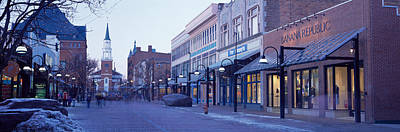 Storefront Photograph - Church Street, Burlington Vermont, Usa by Panoramic Images
