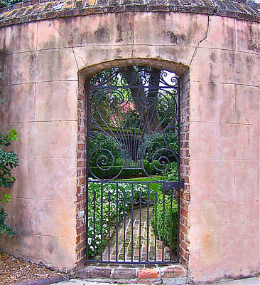 Photograph - Church Street Garden Gate by Lori Kesten