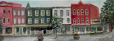 Pennsylvania - Church Street In Montrose Art Print