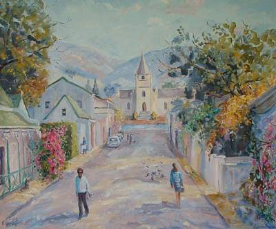 Karoo Painting - Church Street Montagu by Elinor Fletcher