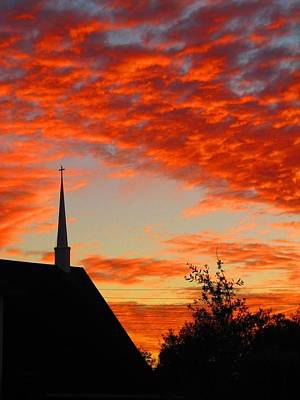 Painting - Church Sunset by Martin Williams