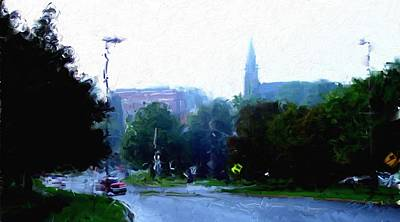 Painting - Church by Tom Tunnicliff