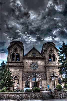 Art Print featuring the photograph Church Under An Angry Sky by Dave Garner