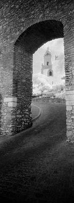 Asphalt Photograph - Church Viewed Through An Archway by Panoramic Images