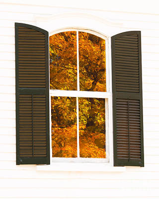 Photograph - Church Window Foliage by Alan L Graham
