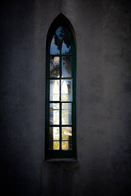 Photograph - Church Window In Window by Carole Hinding