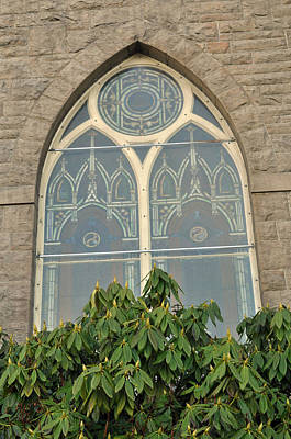 Photograph - Church Window by Tikvah's Hope