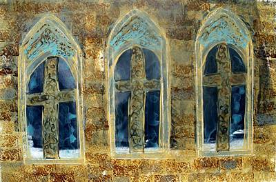 Photograph - Church Windows by Lesley Fletcher