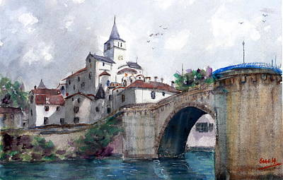 Painting - Church With A Bridge by Sof Georgiou