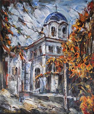 Church Yard - Autumn Afternoon Original by Stefano Popovski