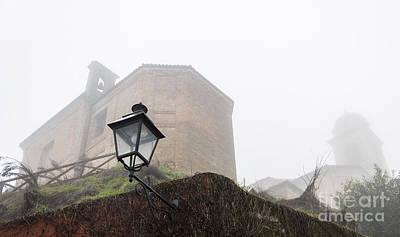 Churches In The Fog Art Print