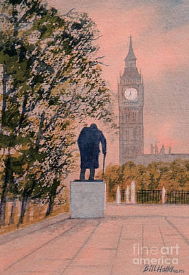 Painting - Churchill And Big Ben by Bill Holkham