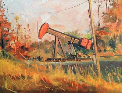 Oil Rig Painting - Churchill Pump Jack by Spencer Meagher