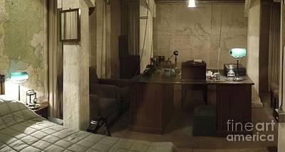 Churchills Wartime Bedroom Original by John Chatterley