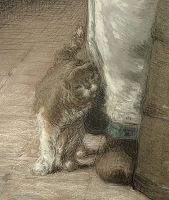 Realist Photograph - Churning Butter, 1866-68 Pencil & Pastel On Paper Detail Of 155306 by Jean-Francois Millet
