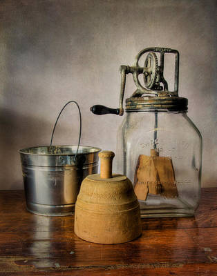 Churning Butter Art Print by David and Carol Kelly