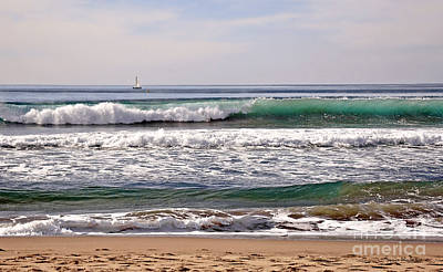 Churning Surf At Monterey Bay Art Print by Susan Wiedmann