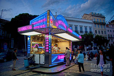 Photograph - Churros Stand With Neon Lights 1 by David Smith