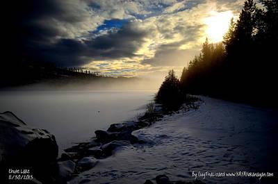 Chute Lake Winter Print by Guy Hoffman