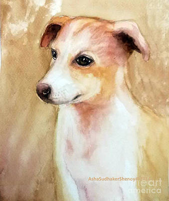 Chutki The Pet Dog Art Print