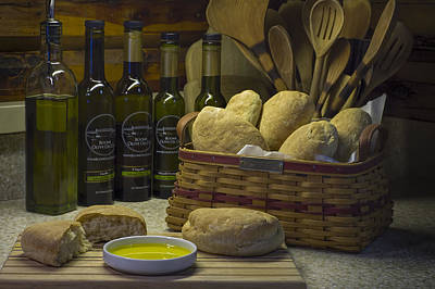 Photograph - Ciabatta Bread And Basket by Wayne Meyer