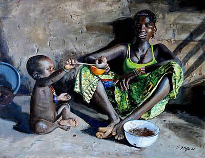 Food Paining Painting - Cibo E... by Sefedin Stafa
