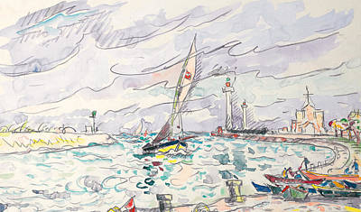 Ciboure Art Print by Paul Signac