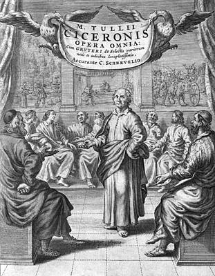 Cicero's Collected Works, 17th Century Art Print by Science Photo Library