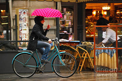 Photograph - Ciclista - Milano by Carlos Alkmin