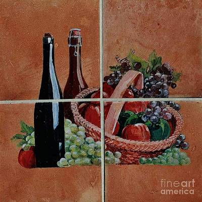 Cider And Apple Basket Art Print