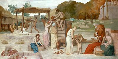 Cider Painting - Cider by Pierre Puvis de Chavannes