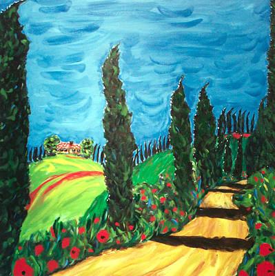 Tuscan Hills Painting - Cielo Sereno by Seonaid  Ross