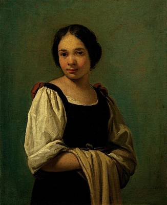 Gathered Dress Photograph - Cifrondi Antonio, Peasant Girl, 1720 by Everett